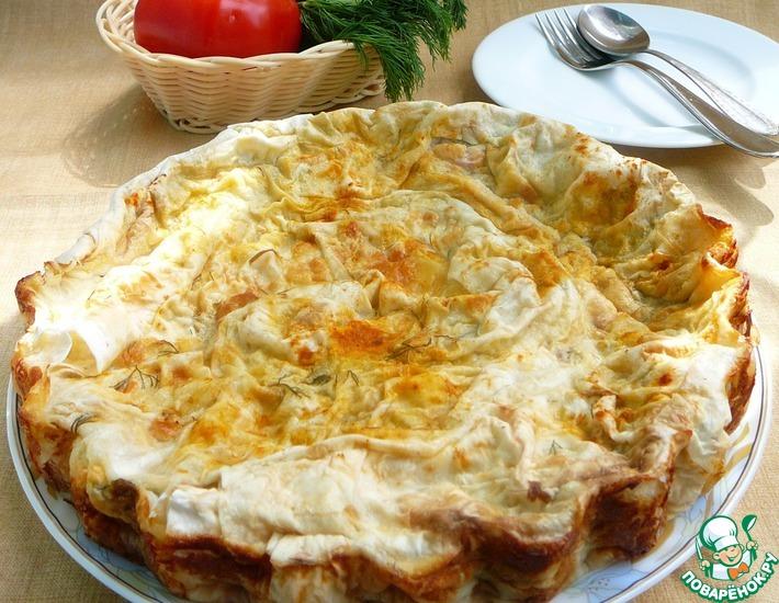 Рецепт: Пирог овощной в лаваше