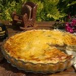 Картофельный пирог с куриной печенью