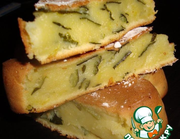 Рецепт: Сладкий пирог из кабачков