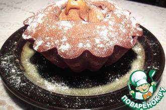 Рецепт: Попробуйте сказку Груша в шоколадном кексе