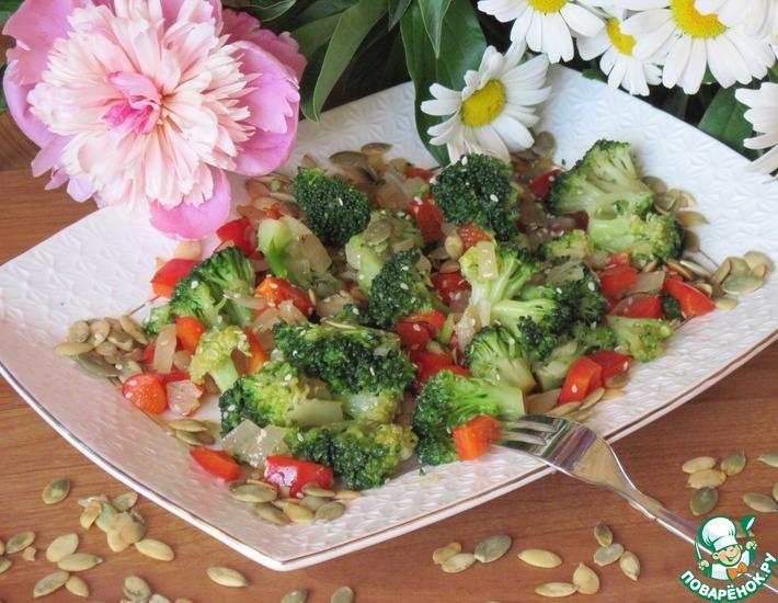 Рецепт: Салат с брокколи и соевым соусом