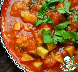 Острый томатный соус с авокадо