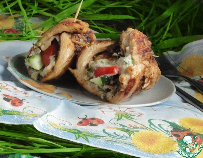 Рецепт: Куриные гриль-рулеты