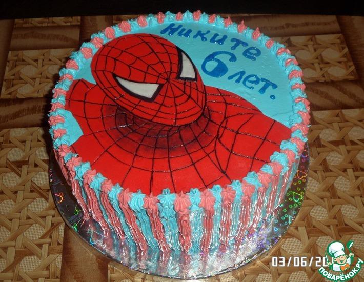 Торт человек паук своими руками фото 860