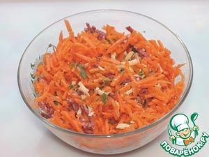 Соединить все подготовленные ингредиенты, добавить корейскую морковь,