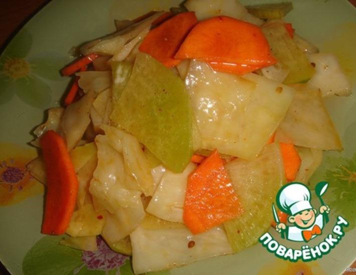 Рецепт: Салат из овощей по-корейски