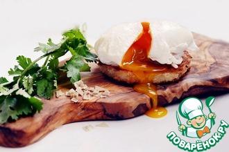 Рецепт: Закусочные бутерброды с семгой и яйцом-пашот