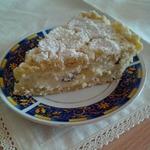 Насыпной пирог с творожной начинкой