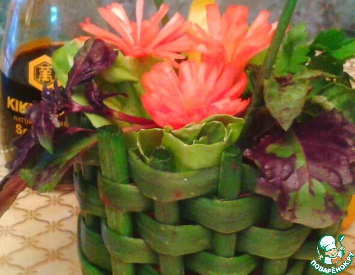 Рецепт: Овощной салат  Зеленая корзина