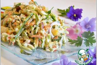 Рецепт: Салат из крабовых палочек с яйцом