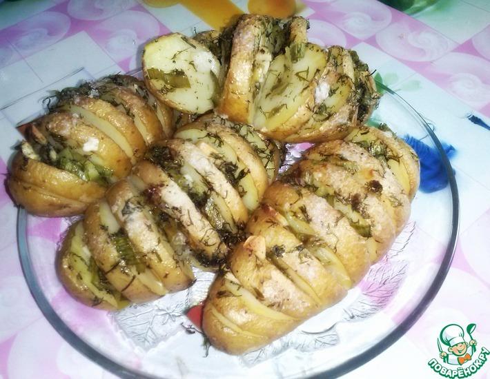Рецепт: Запеченный картофель с травами