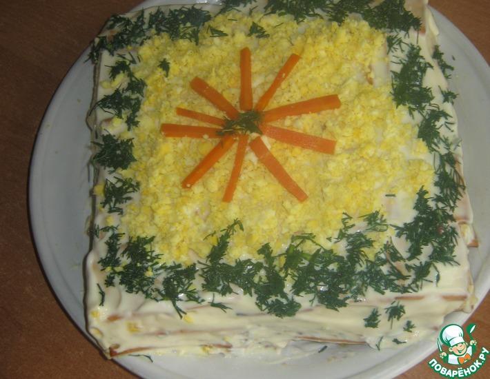 Рецепт: Пирог из крекеров Закусочный