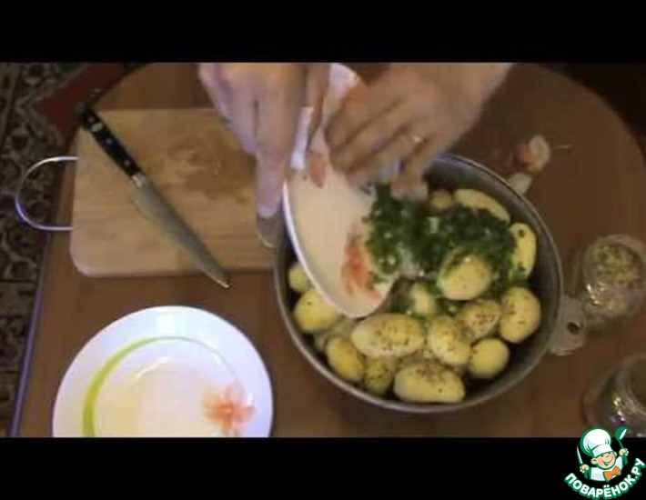 Рецепт: Дамляма из чеснока