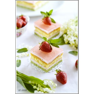 Торт-мусс Мята, клубника, апельсин