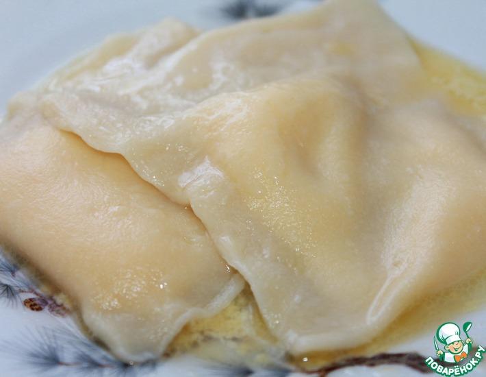 Рецепт: Яичные пельмени Тухум-барак