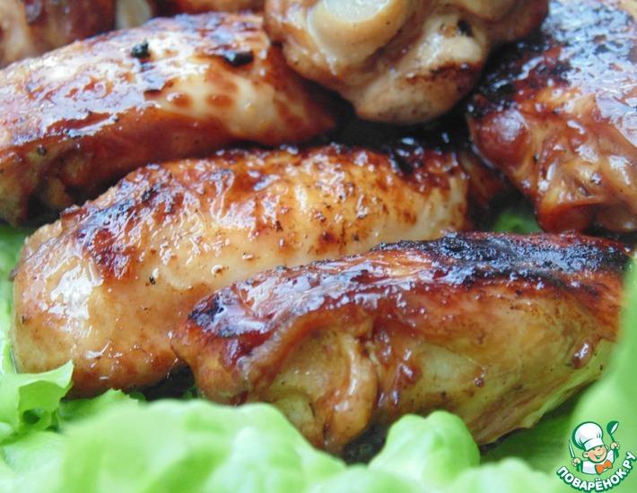 Рецепт: Куриные крылышки в пряном маринаде