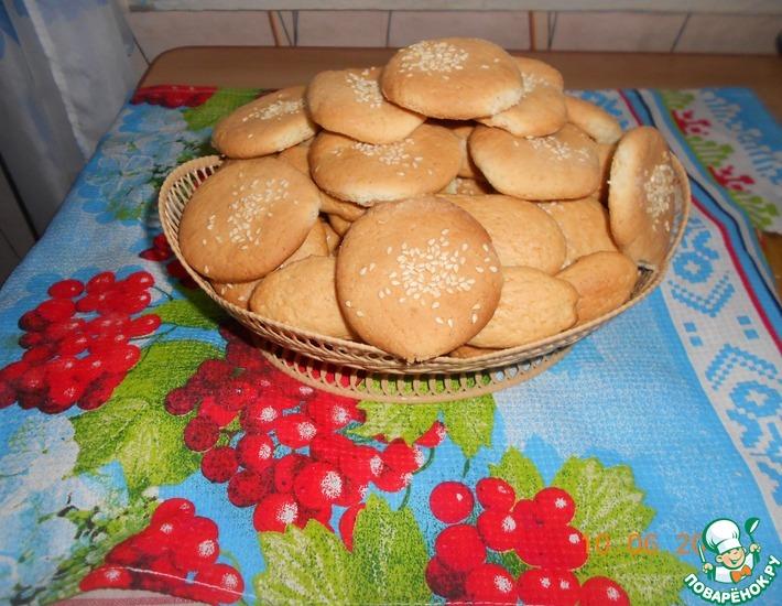 Рецепт: Печенье на огуречном рассоле