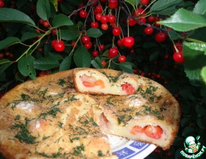 Рецепт: Пирог Творожные шарики с секретом