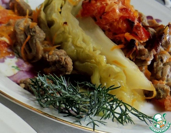 Рецепт: Свинина с капустой