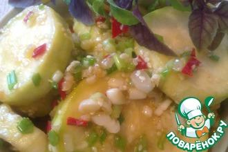 Рецепт: Салат из кабачков Пикантный