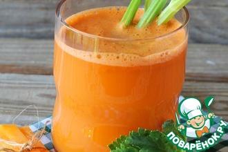 Рецепт: Сок из моркови и сельдерея