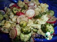 Салат с цветной капустой и редисом ингредиенты