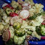 Салат с цветной капустой и редисом