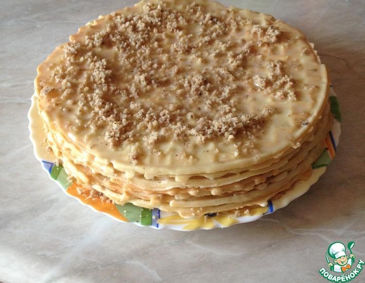 Рецепт: Домашний вафельный торт