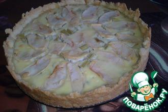 Рецепт: Пирог с нежнейшей ревенево-яблочной начинкой