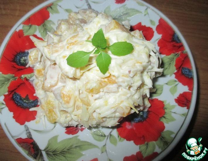 Рецепт: Салат с консервированным манго и пармезаном