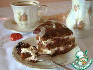 Торт шоколадно-вишневый