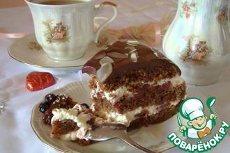 Рецепт: Торт шоколадно-вишневый
