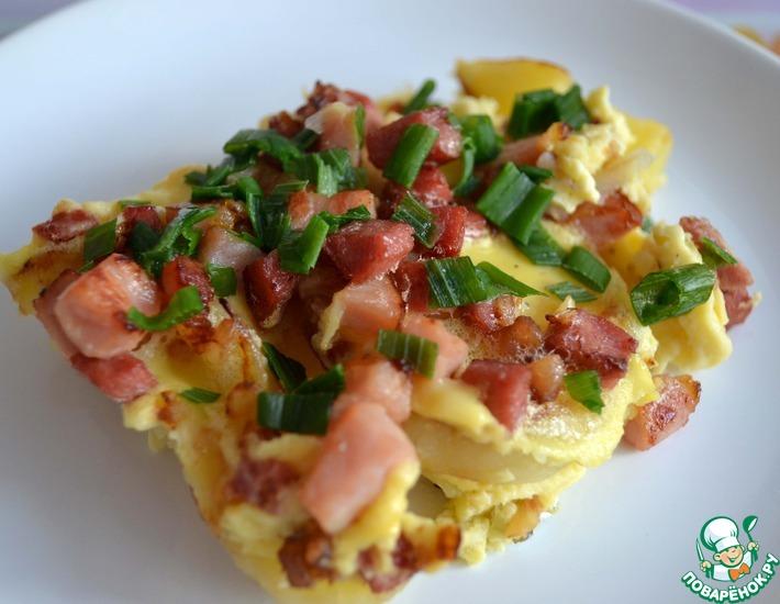 Рецепт: Земниеку брокастис ( крестьянский завтрак)