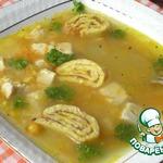 Кукурузный суп с яичными улитками
