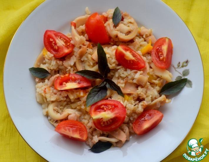 Рецепт: Паэлья с кальмарами