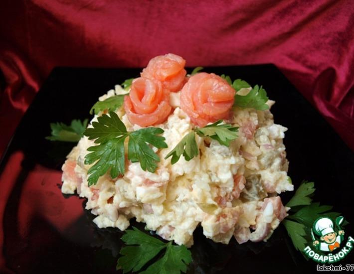 Рецепт: Рисовый салат с красной рыбой