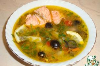 Рецепт: Овощной суп с форелью
