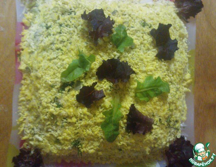 Рецепт: Салат ложная Мимоза