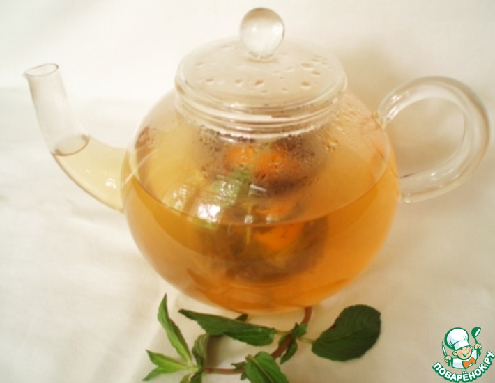Рецепт: Освежающий зеленый чай с мятой и лимоном