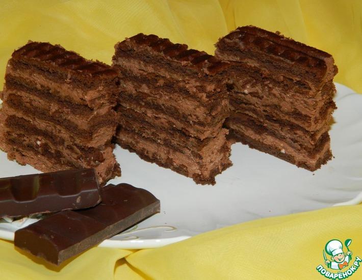 Рецепт: Шоколадное пирожное