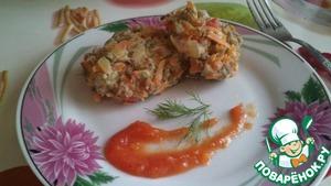Рецепт Диетические котлеты из курицы, крупы и овощей в пароварке
