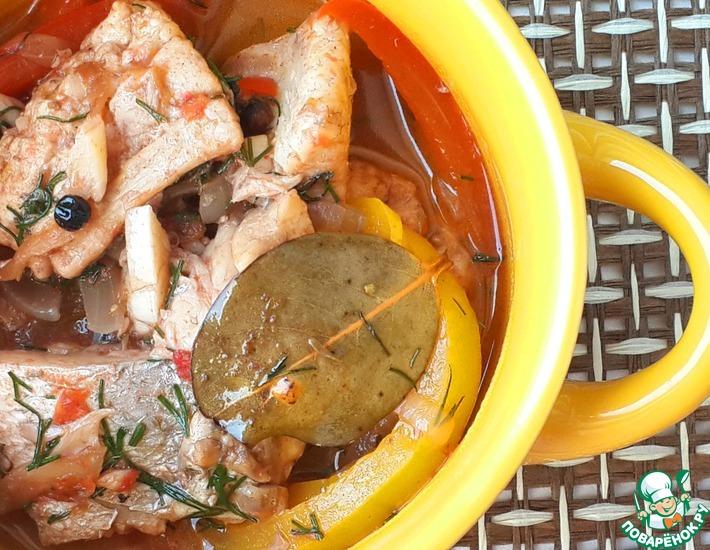Рецепт: Венгерский рыбный паприкаш