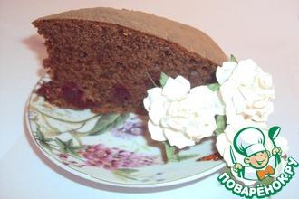 Рецепт: Пирог Пьяная вишня в мятном шоколаде