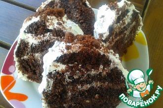 Рецепт: Пирожное Поленце шоколадное