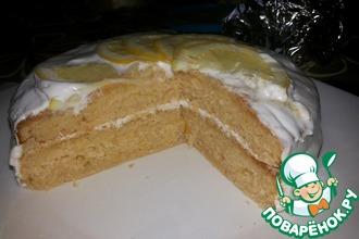 Рецепт: Лимонный кекс-торт