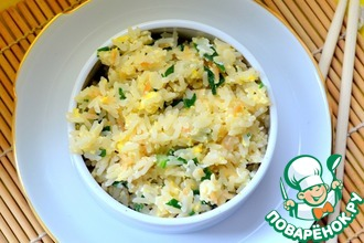 Рецепт: Рис с чесноком по-японски