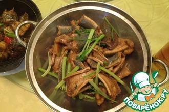 Рецепт: Экзотическое блюдо! Жаренная в растительном масле змея