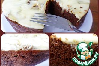 Рецепт: Шоколадно-кофейный кейк с соленым конфитюром и сыром