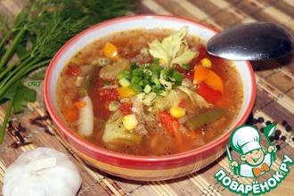 Рецепт: Томатный мультиовощной суп