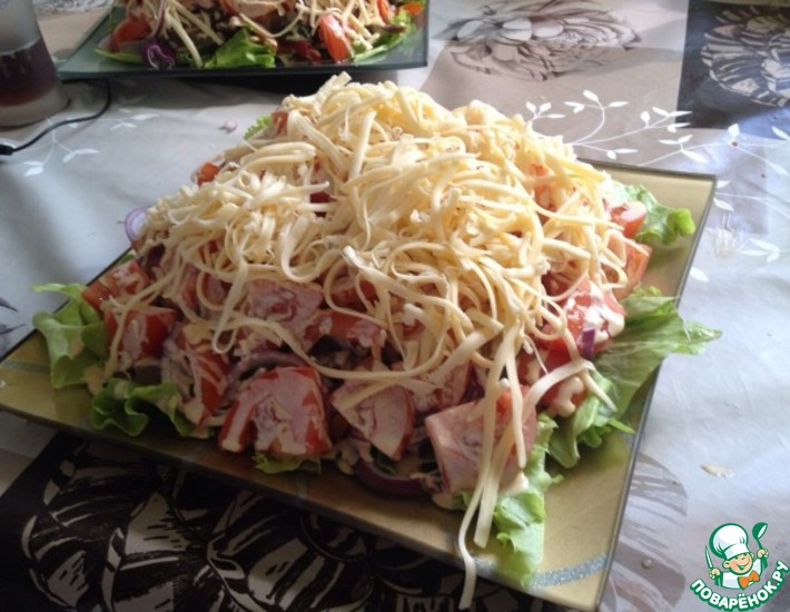Рецепт: Салат с говяжим языком Радость